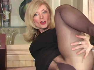 older alex hartley inside pantyhose as never seen