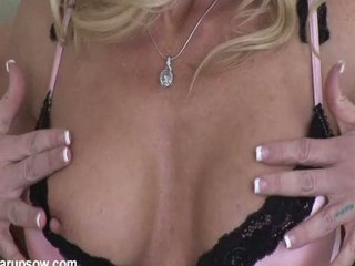 naughty blonde lady amber playing