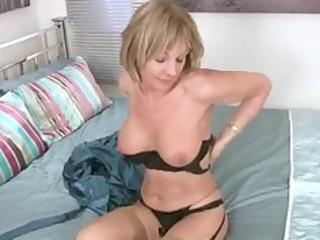stunning pantyhose milf craves fuck