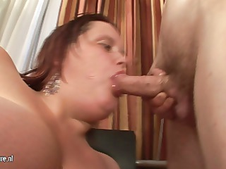 large boobed mother tasting her arse off