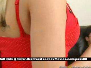 charming blond wife at house with her male cheats