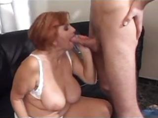 really busty chubby french angel eats dick before