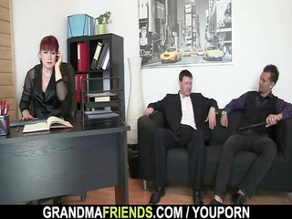 workplace girl pleases two penises