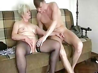 fat bleached old seduces a y...