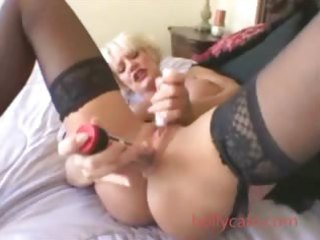 awesome blonde grown-up white cream older babe