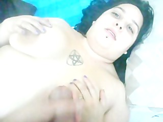 jacking & spraying on wifes boobs