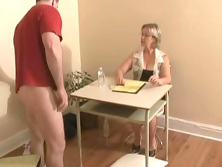handjob ends with white cream by big tittied pale