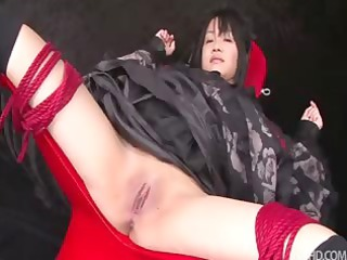 hikaru momose tied spread thick demonstrate in a
