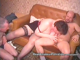 older fat housewife is gang-banged by two boys