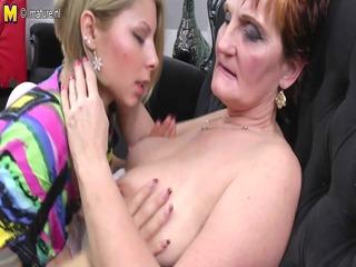 grandma teaching youthful beauty a lesbo adore