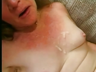 wrinkly granny adores 4 cocks and lots of cum