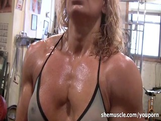 awesome elderly bleached workout
