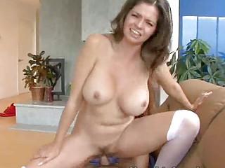 horny woman drives a fresh dick