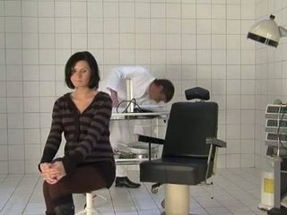 doctor fukcs pregnant wife during check up visit.
